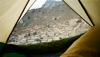View of Namche from Tent