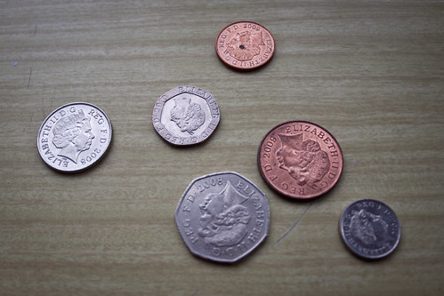 English coins: heads