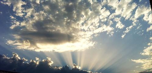 Nuvole viste da Case Selvatiche verso Argenta. by meteomike