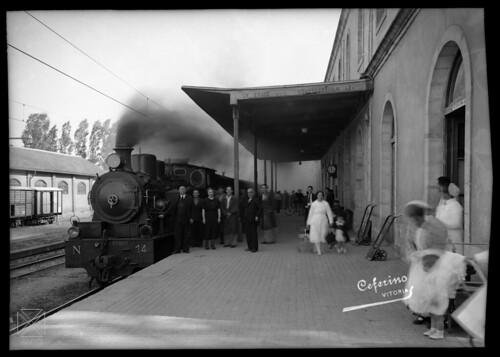 Yanguas (hacia 1936) Ferrocarril Vasco-Navarro.