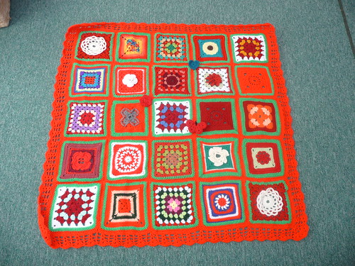 Thanks to everone that contributed squares for this blanket.