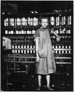 Addie Laird, 12 years old. Spinner in a Cotton Mill. Girls in mill say she is 10 years old, February 1910