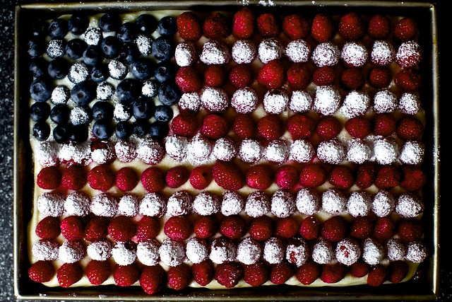 berry flag cake