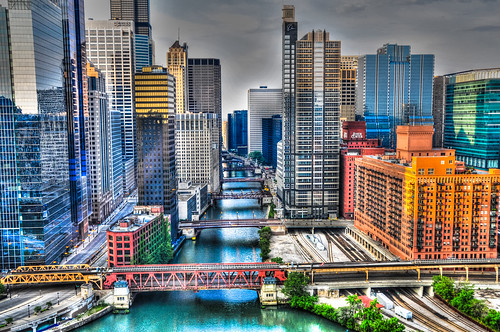 bridge usa chicago building skyline buildings river us office illinois day branch cta unitedstates cloudy south il ponte brücke hdr skyscaper skyscapers ilobsterit