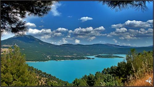 mountain lake france montagne alpes europe lac provence saintecroixduverdon