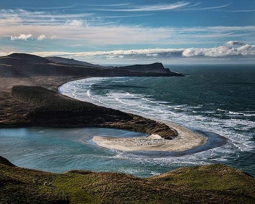 ocean beach clouds bravo surf afternoon pacific s victory spray nz otago dunedin peninsula