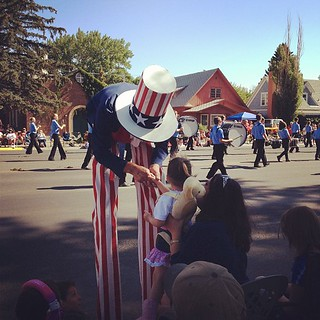 Uncle Sam at Cody Parade