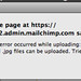 MailChimp Error Message