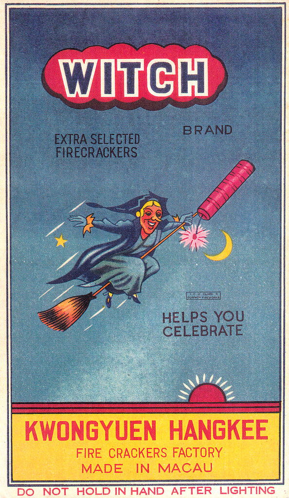 Witch - Firecracker Brick Label
