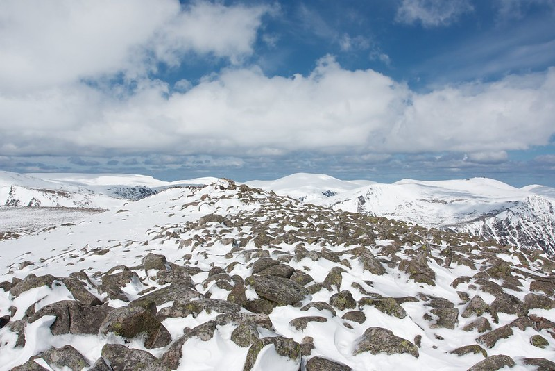 Approaching the summit of Derry Cairngorm