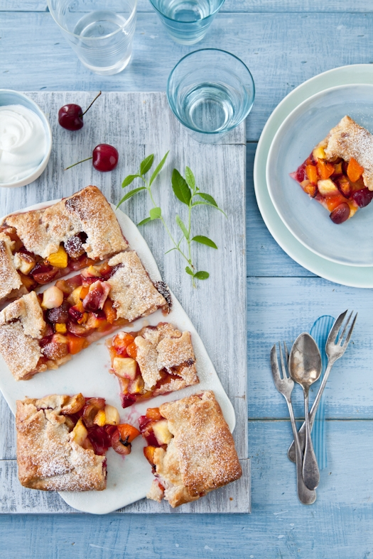 stone fruit galette by is the world your oyster