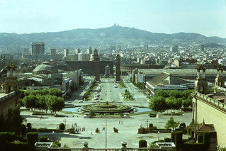 Barcelona from steps of National Palace