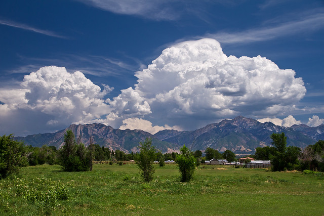 Thunderstorms brewing over Wasatch Front