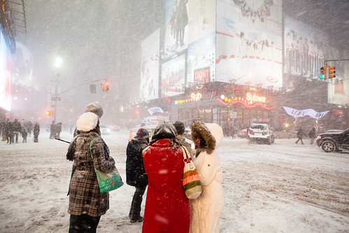 NYC Blizzard 2009, Times Square