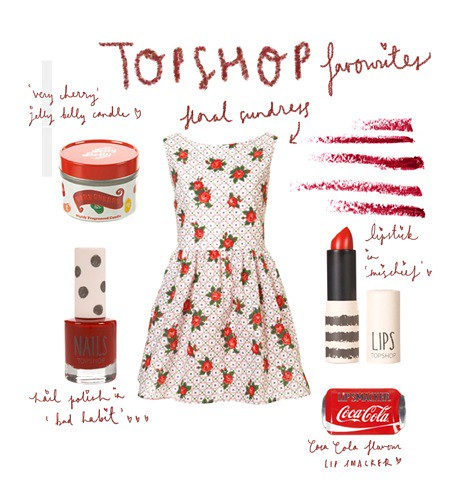 web TOPSHOP-FLORAL SUNDRESS RED