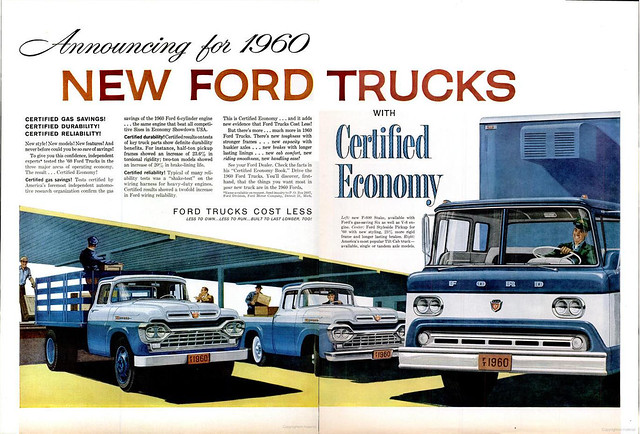 1960 Ford Trucks ad