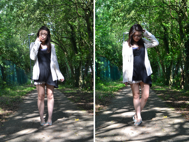 daisybutter - UK Style and Fashion Blog: what i wore, boucle, assymetric hem, zara, miss selfridge, hong kong, uk style