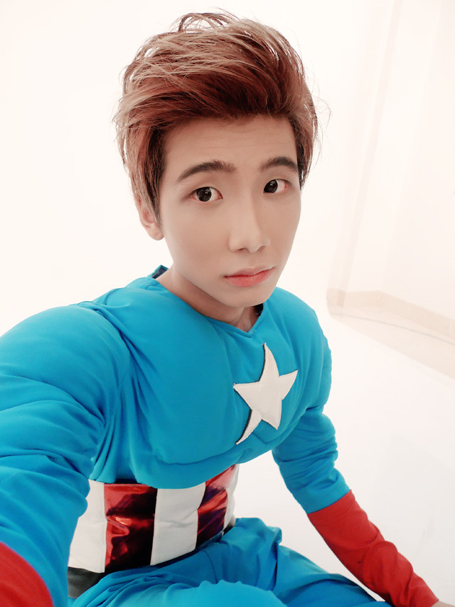 typicalben camwhore with captain america costume 2