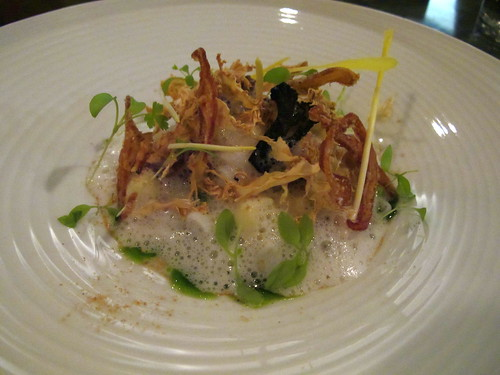 Squid, cauliflower, hazelnut