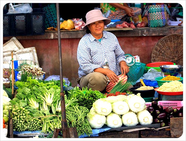 battambang market vegetable vendor