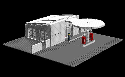 LDD MOC: The Skovshoved Petrol Station
