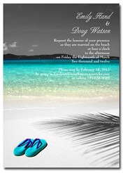 beachwedlockinvitations.com Beach Wedding Invitation