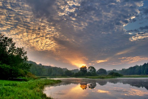 trees lake water clouds forest sunrise landscape hdr highdynamicrange lackawannastatepark lackawannalake