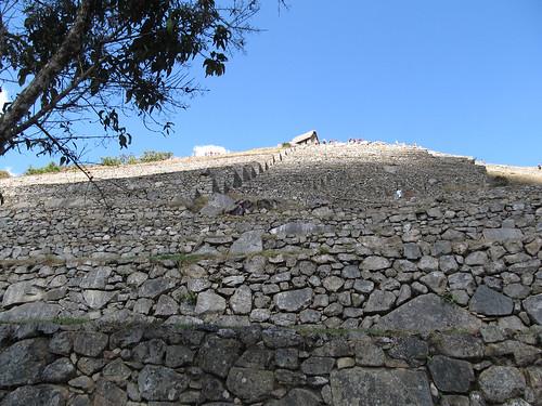 Machu Picchu: les terrasses vues d'en bas