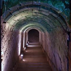 Escalier du château de Blainville-Crevon