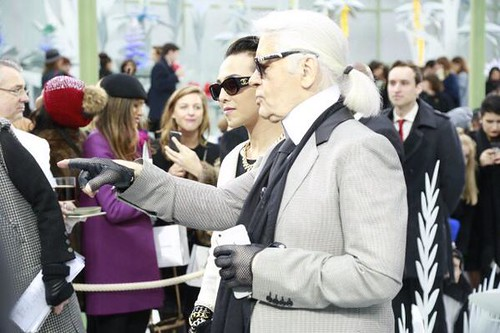 GD and Karl Lagerfeld 20150127