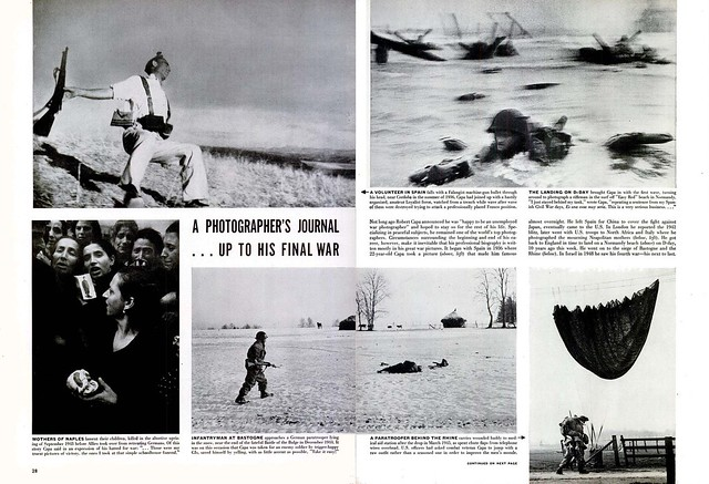 LIFE Magazine June 7, 1954 (2) - A PHOTOGRAPHER'S JOURNAL   . . . UP TO HIS FINAL WAR