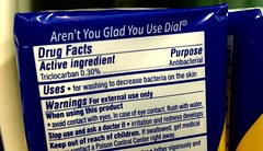 Dial Antibacterial Bar Soap with triclocarban, part of the Triclosan ban / JeepersMedia