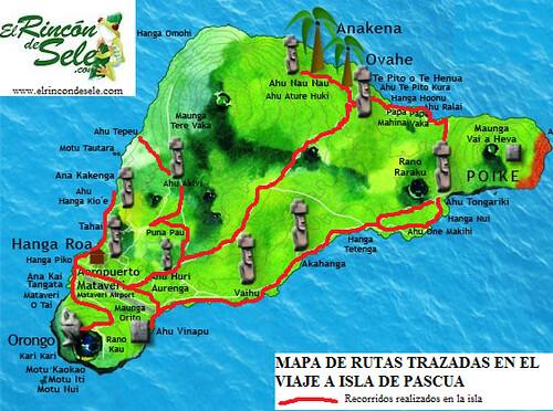 Mapa de mis rutas por Isla de Pascua