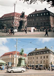 Gothenburg, Kungsportsplatsen 1943 / 2012