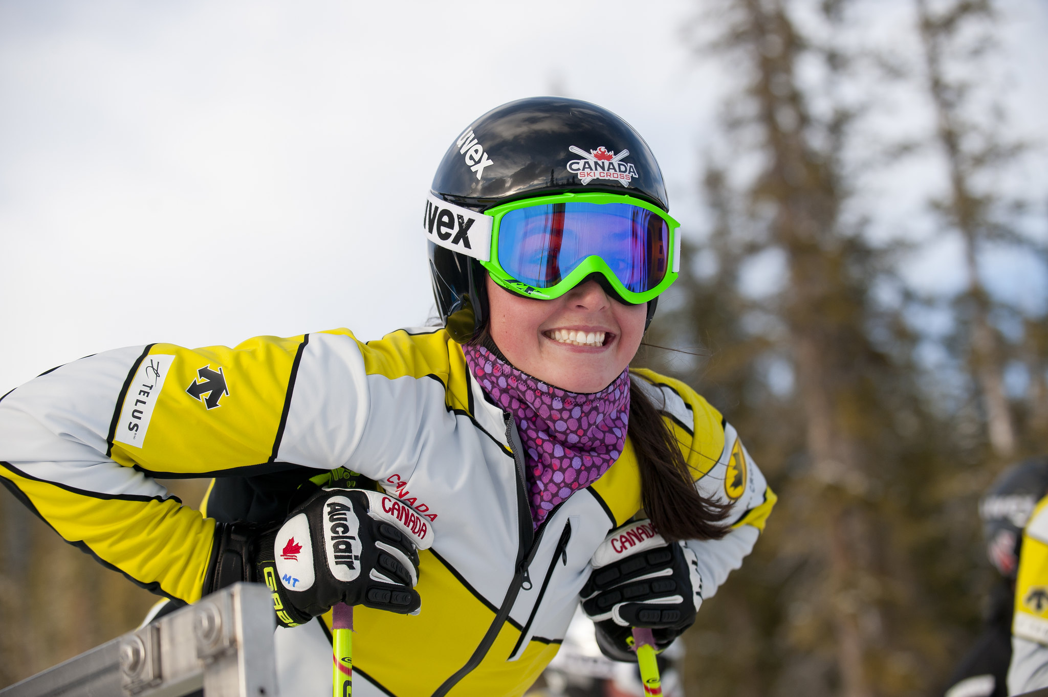 Ski cross racer Marielle Thompson in Nakiska.