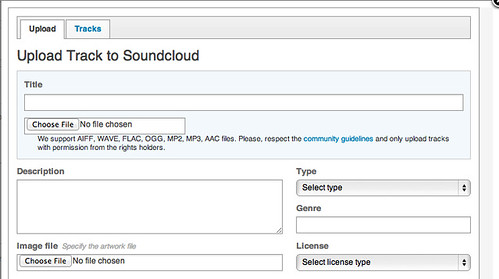 Upload to SoundCloud and browse your audio archive