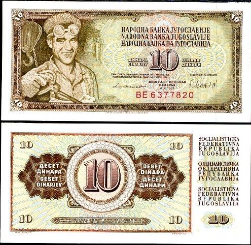10 Dinárov Juhoslávia 1981, Pick 87b