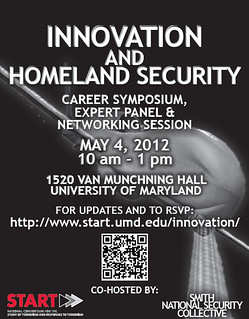 START's Innovation in Homeland Security Career Symposium