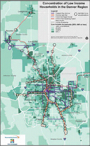 map of low income households in Denver (via Denver Reg Equity Atlas)