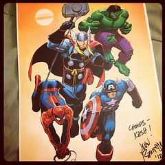 Signed poster by John Romita Jr