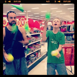 I can't take these two anywhere. #juggling