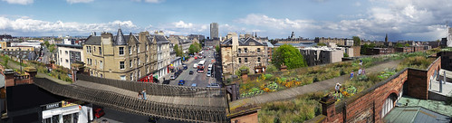 Panoramic Leith Walk Green Bridge