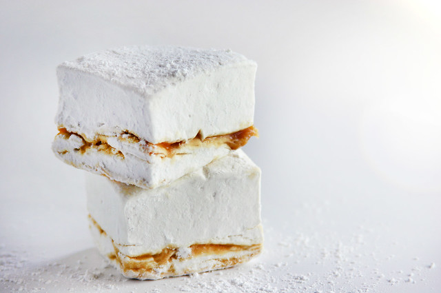 marshmallow caramel layer stack bright