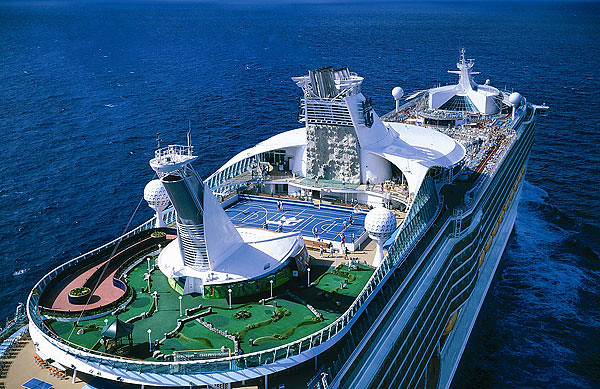 Just look at how large Voyager of the Seas is!