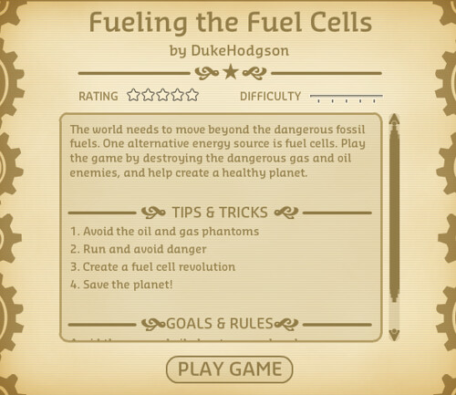 Fuel Cell Game Screenshot