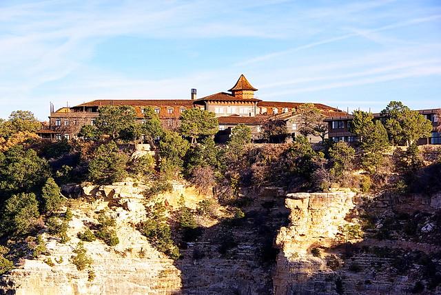 El Tovar Hotel From Rim Grand Canyon South Rim