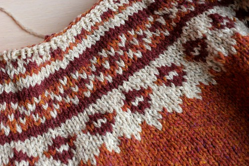 Icelandic colourwork yoke