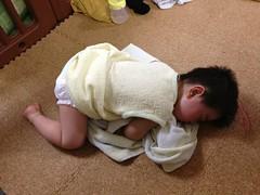 お風呂上がりに泣いて寝る(2012/5/16)