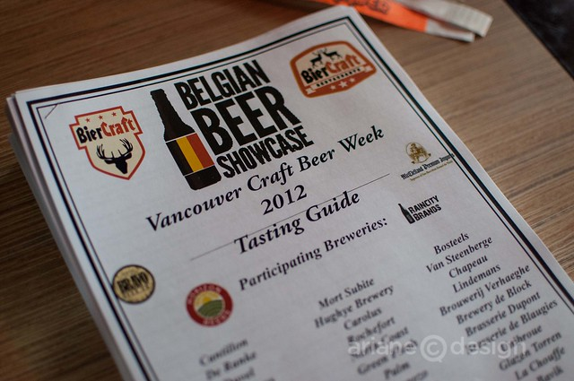 Biercraft Belgian Beer Showcase tasting guide