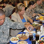 Chairman Ros-Lehtinen shares a meal with South Florida military members